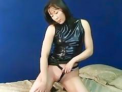 Asian mature slut getting real randy on her own