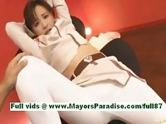 Yuu kaiba adorable japanese slut gets a vibrator in her mouth