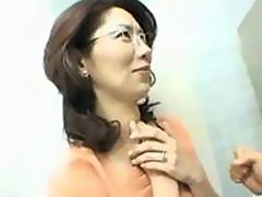 Japanese Milf Fucked In Bathroom