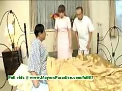 Myuu Hasegawahot asian babe giving a blowjob