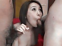 Yurika Momo takes good care of two massive cocksÐ'Â