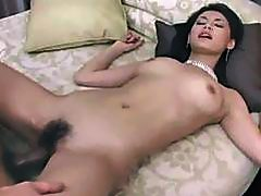 Asian goddess Maria Ozawa sucks cock and gets fuck