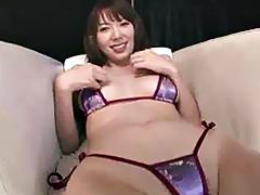Japanese Nagatsuki Ram start buffing her pearl with her playful fingers that goes deep in her slit