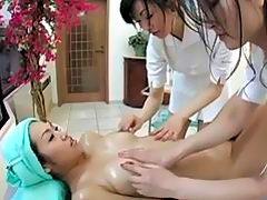 Japanese Lesbian Threesome Massage