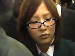 Helpless Schoolgirl on a train