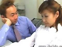 Shy Asian Secretary Receives Visit From Her Boss Who Sticks Small Pink Dildo In Her Pussy Then Fucks Her With His Small Dick Asian Hairy Teen