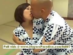 Japanese model shows off her perfect tits and nice pussy